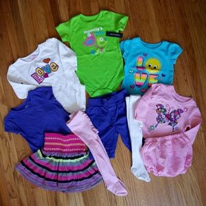 Sz 12 & 12-18 Months  Baby Girl Clothes Lot Of 10